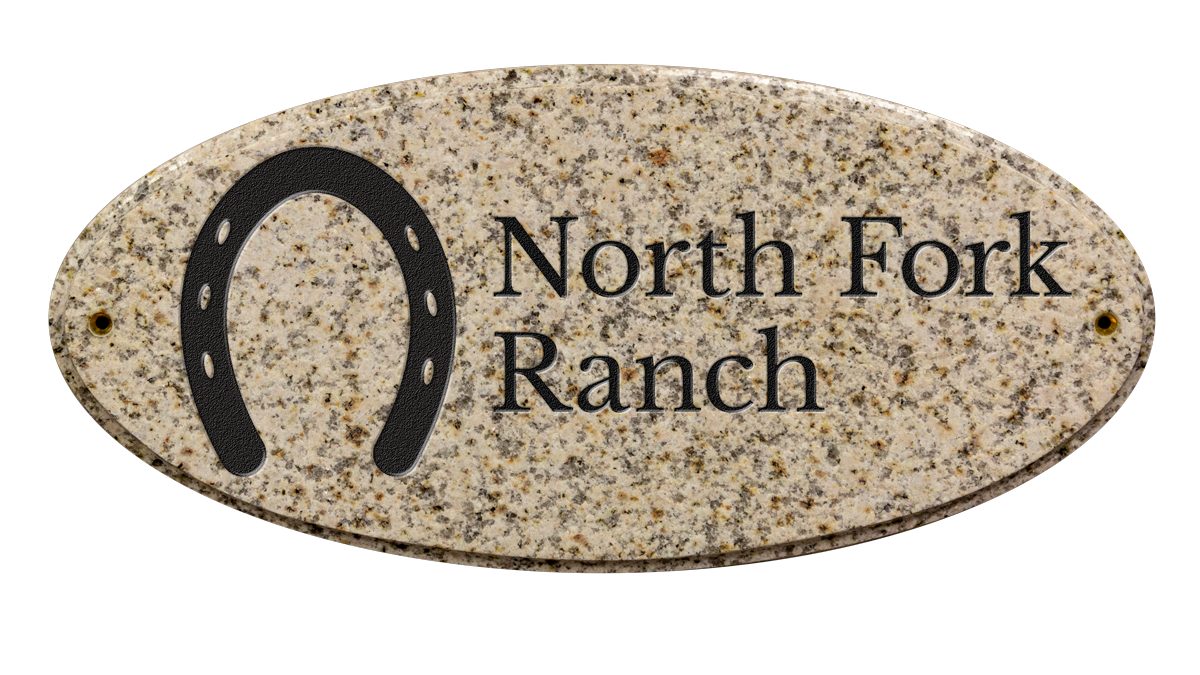 Custom engraved ranch sign