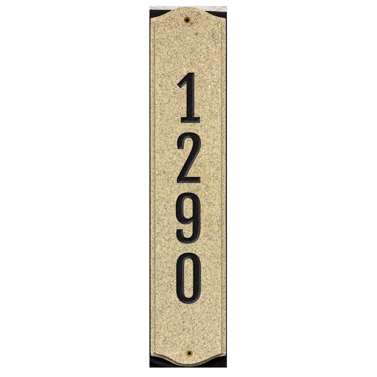Custom vertical house plaque